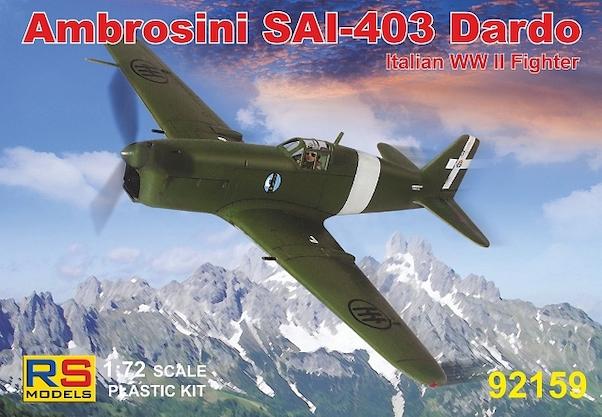 1/72 Ambrosini SAI 403 Dardo (RS Models 92159)