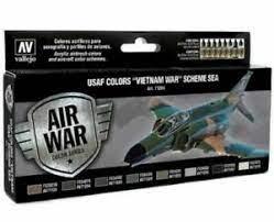 Vallejo Model Color Air Acrylic paint set for USAF 'Vietnam war