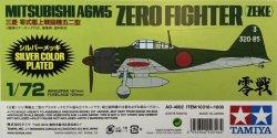 1/72 Mitsubishi A6M5 Zero Fighter (Zeke) Silver Plated