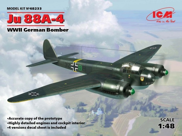 1/48 Ju 88A-4, WWII Axis Bomber