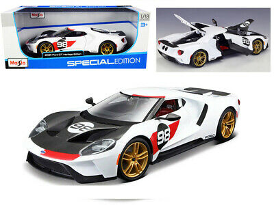 1/18 Ford GT2021 Ford Heritage white/black
