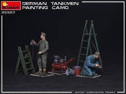 1/35 ,German Tankmen. Painting Camo