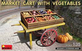1/35 Market Cart with Vegetables