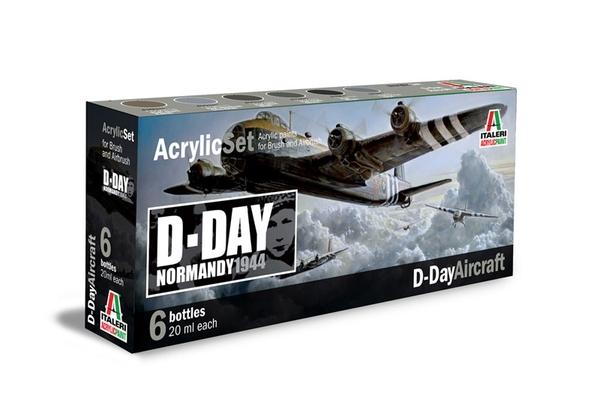 ACRYLIC SET D-DAY AIRCRAFT NORMANDY 1944
