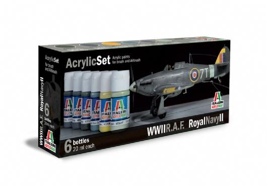 ACRYLIC SET WWII  R.A.F. RAYAL NAVY II