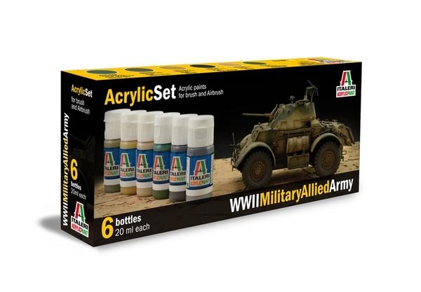 ACRYLIC SET WWII MILITARY ALLIED ARMY
