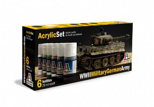 ACRYLIC SET WWII MILITARY GERMAN ARMY