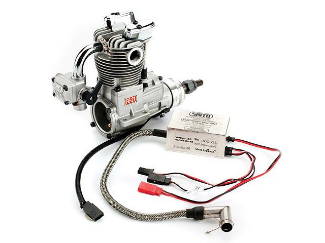 SAITO FG-21 Gasoline Engine (4Tempi Benzina) con centralina e silenziatore