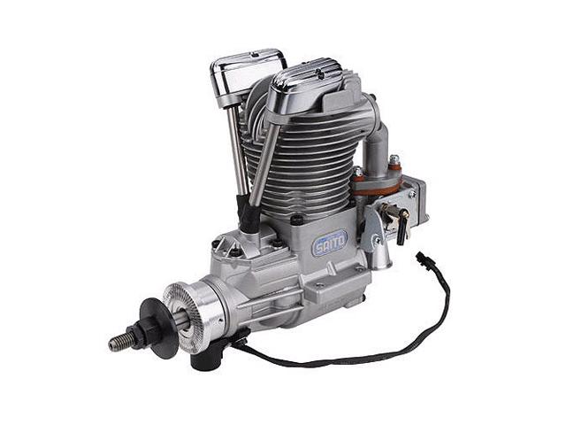 SAITO FG-36 Gasoline Engine (4Tempi Benzina) con centralina, castello motore in alluminio e silenziatore