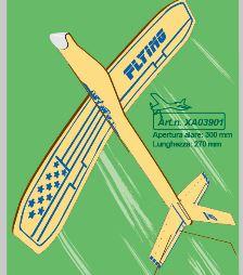 Sky Boy Eagle Jet modello lancio a mano in balsa