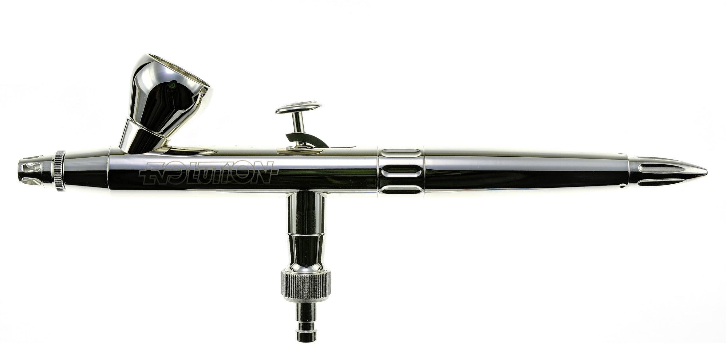 Aerografo Harder & Steenbeck Evolution Silverline Solo Doppia azione  Ø ugelli 0,2